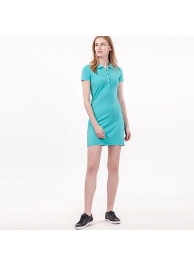 Kısa Kollu Mini Elbise-Lacoste